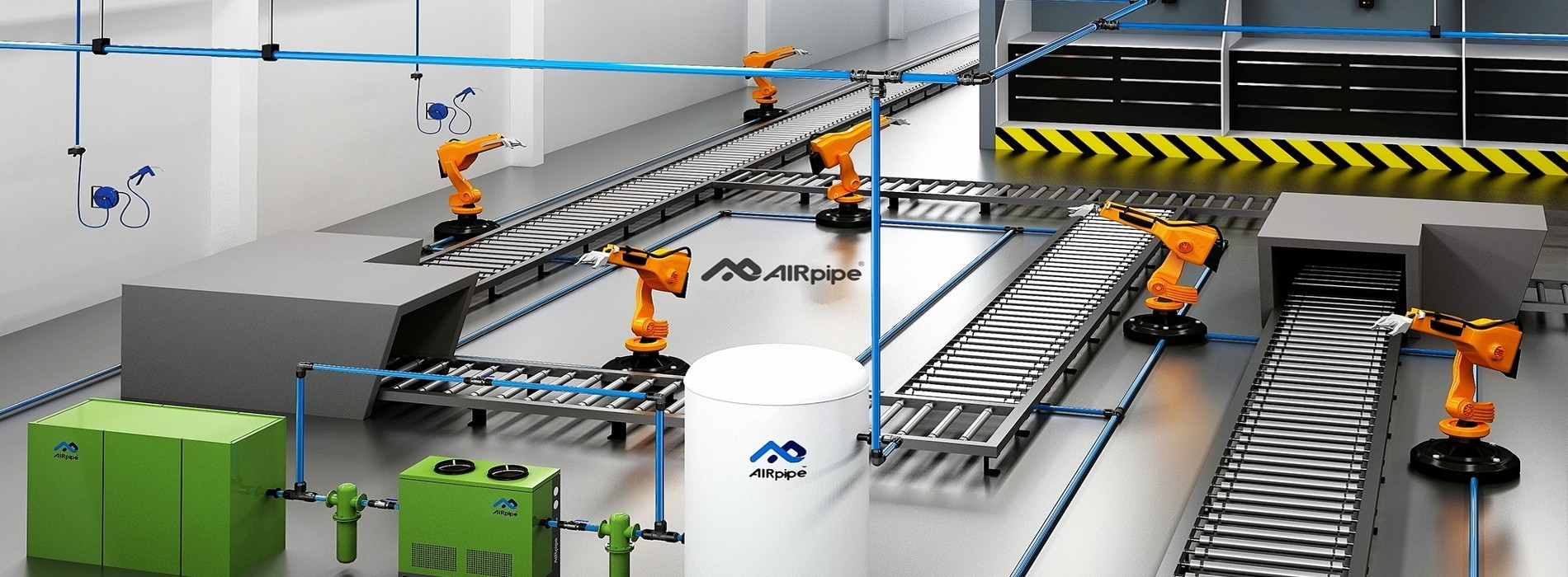 About AIRpipe & AIRpipe Europe - Aluminum pipes and piping systems
