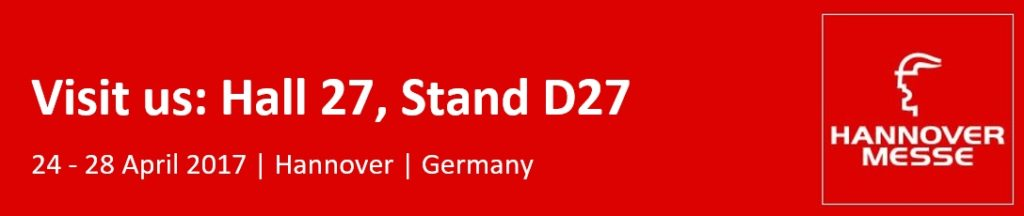 Hannover Messe - Industrial Automation Fair - 24-28 April 2017 - Hall 27, stand D27