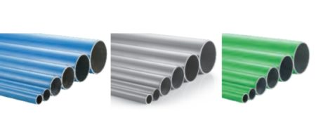 Rigid aluminum pipes, suitable for compressed air, vacuum and inert gases